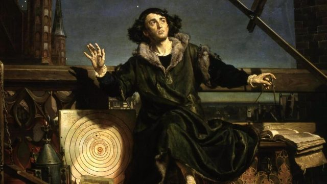 """""""Astronomer Copernicus, or Conversations with God"""" by Jan Matejko (1873), Public Domain"""