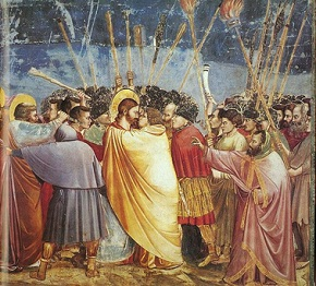 Giotto di Bondone, The Arrest of Christ (Kiss of Judas) (ca. 1304-06), fresco, Cappella Scrovegni, Padua