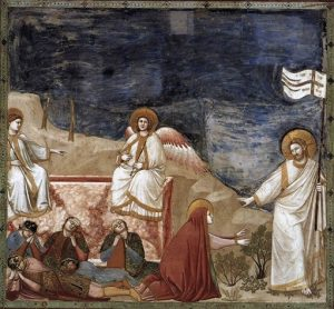 Giotto di Bondone, Resurrection (Do not Touch Me) (ca. 1304-06), fresco, Cappella Scrovegni, Padua