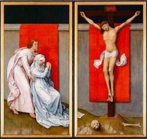 Rogier van der Weyden, The Crucifixion, with the Virgin and Saint John the Evangelist Mourning (ca. 1460), Philadelphia Museum of Art