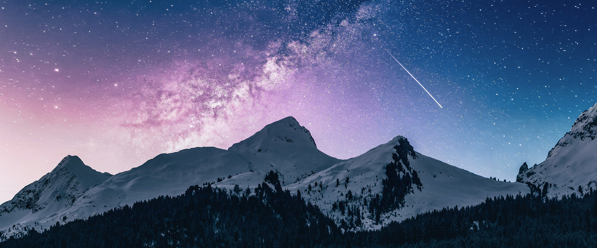stars above mountains