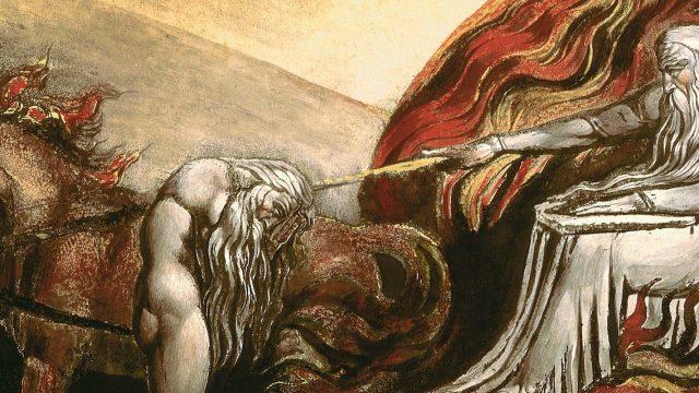 "William Blake's ""God Judging Adam"" (1795). Taken from Wikipedia"