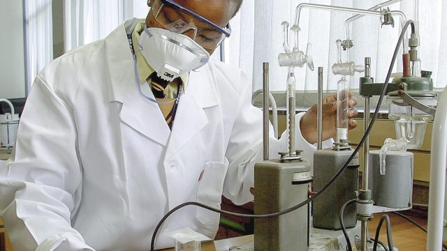 scientist performing an experient