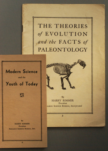 Modern Science and the Youth of Today, is very rare today; just a single copy is listed in the Library of Congress database of academic libraries. Published a few months after the Scopes trial, it was his first antievolution pamphlet.
