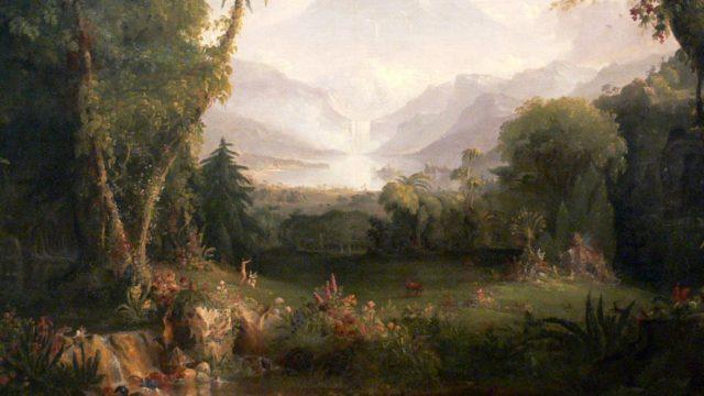 """The Garden of Eden"" (1828) by Thomas Cole, via Wikimedia"