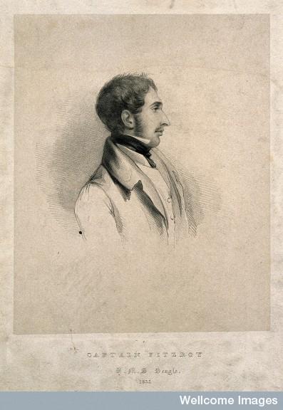 lithograph of robert fitzroy