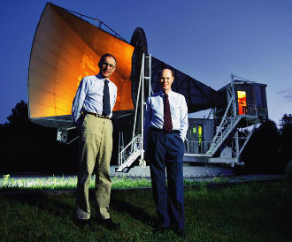Arno Penzias and Robert Wilson microwave horn antenna