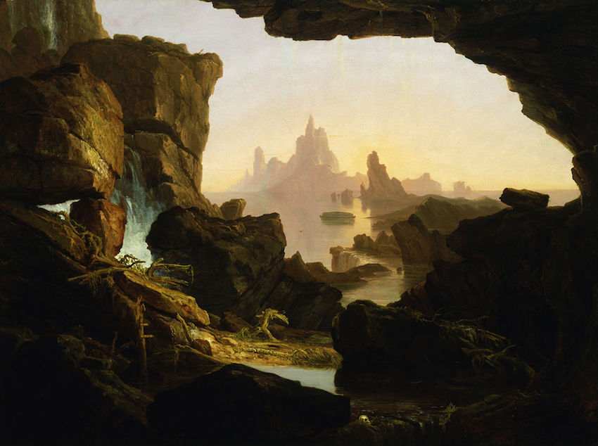 thomas cole the subsiding waters of the deluge