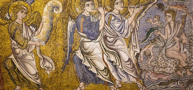 The Last Judgment, 11th or 12th century Byzantine-Ravennate mosaic, Cathedral of Santa Maria Assunta, Torcello, Venice
