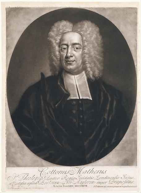 engraving of cotton mather