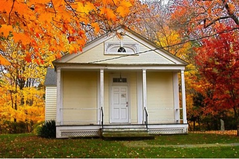 ebenezer banks adams greek revival schoolhouse