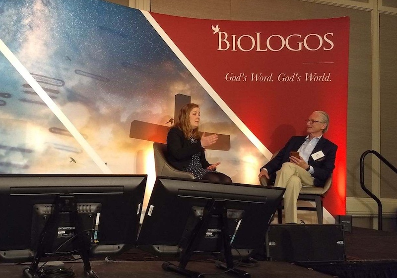 Bethany Sollereder and Jeff Schloss at the BioLogos Conference