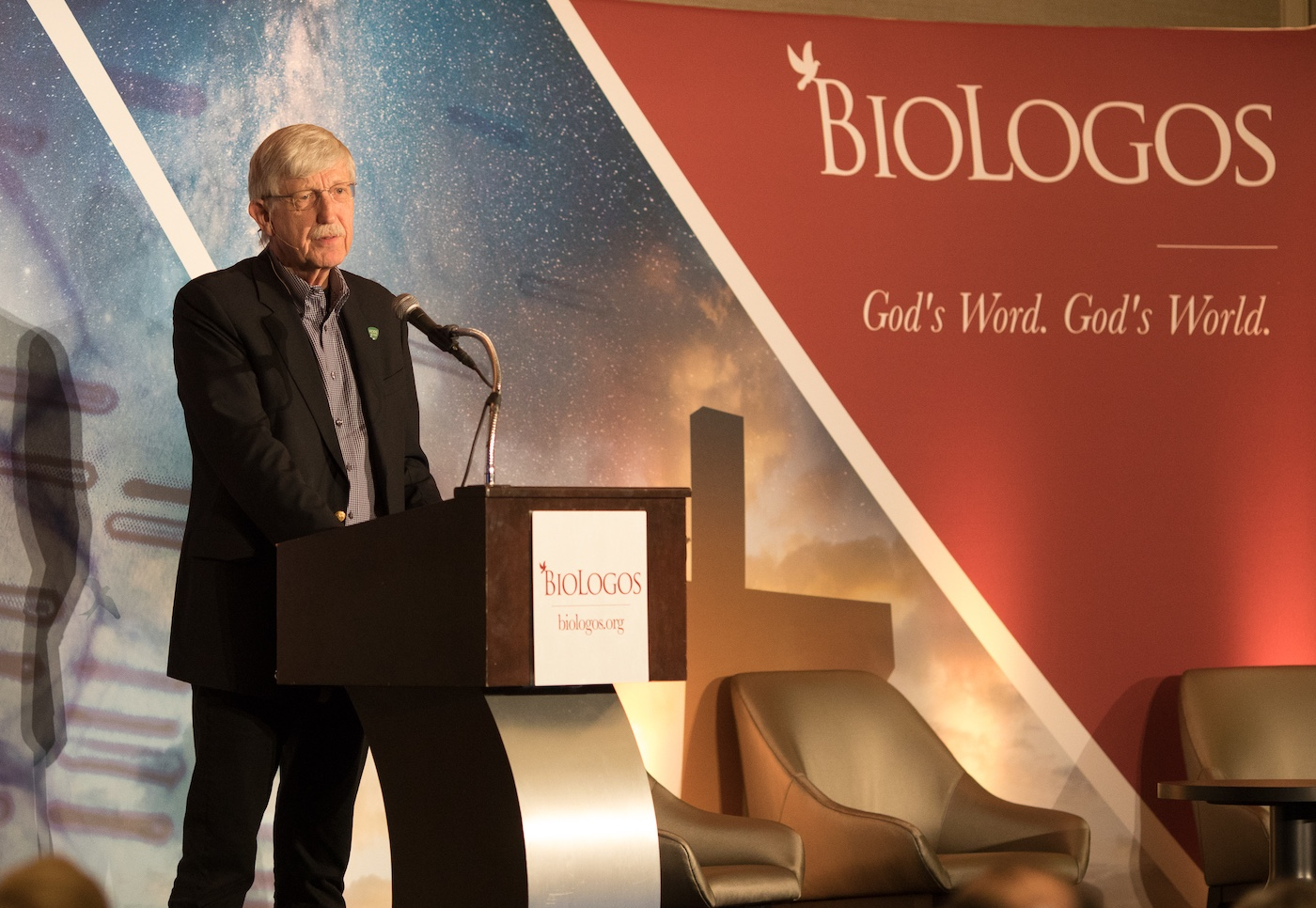 Francis Collins speaks at the BioLogos Conference