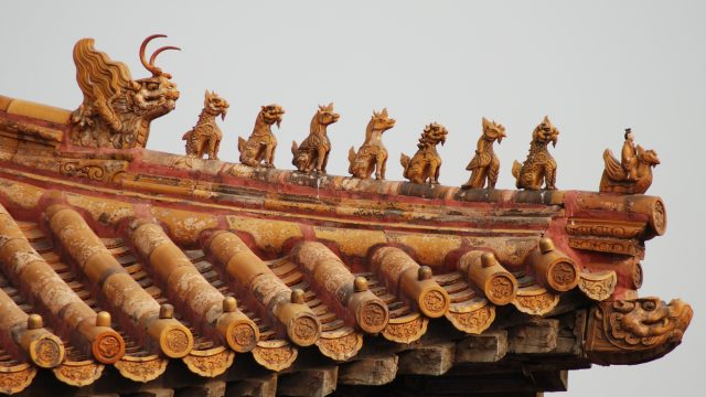 dragons atop a pagoda