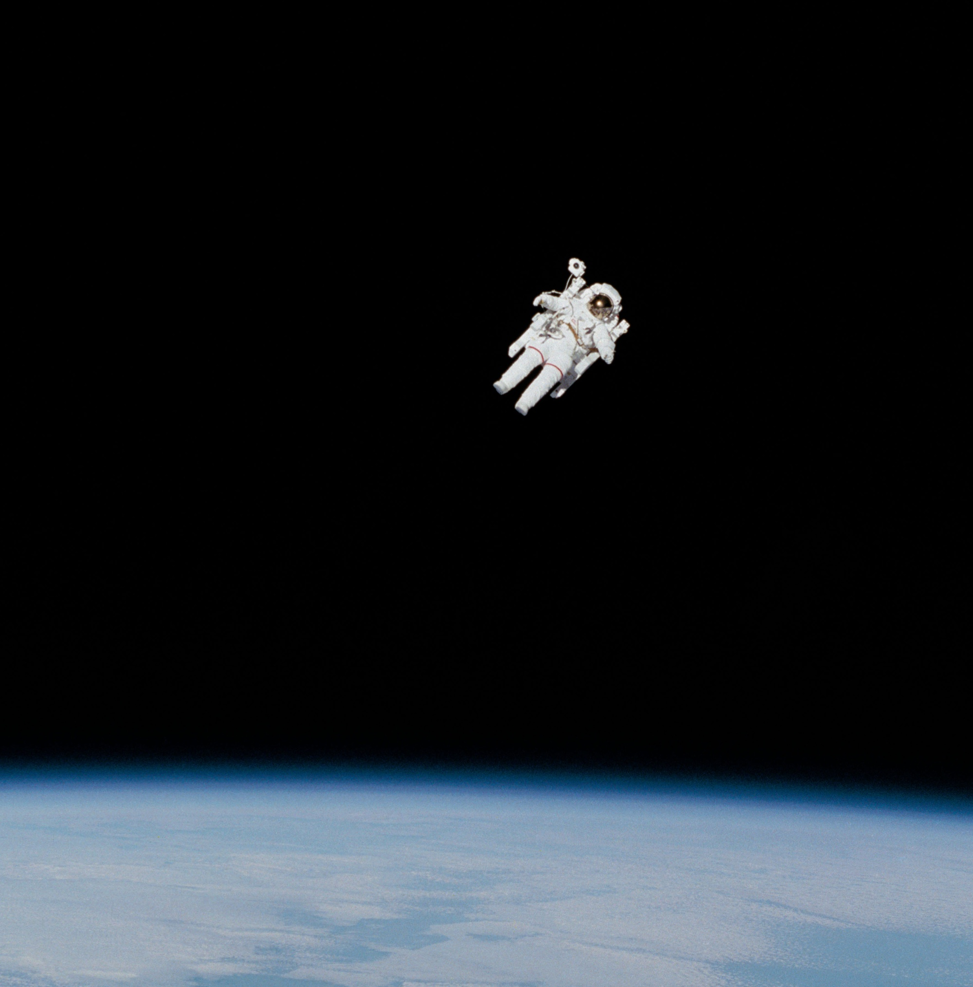 iconic image of astronaut floating in space