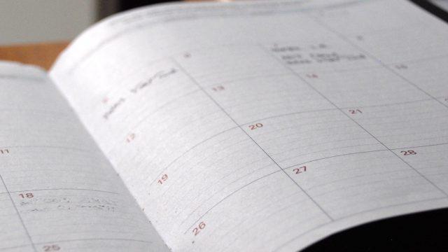 an open calendar planner