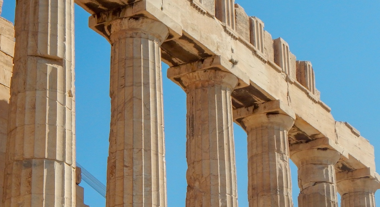 pillars from Greek architecture