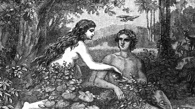 Adam and Eve Engraving