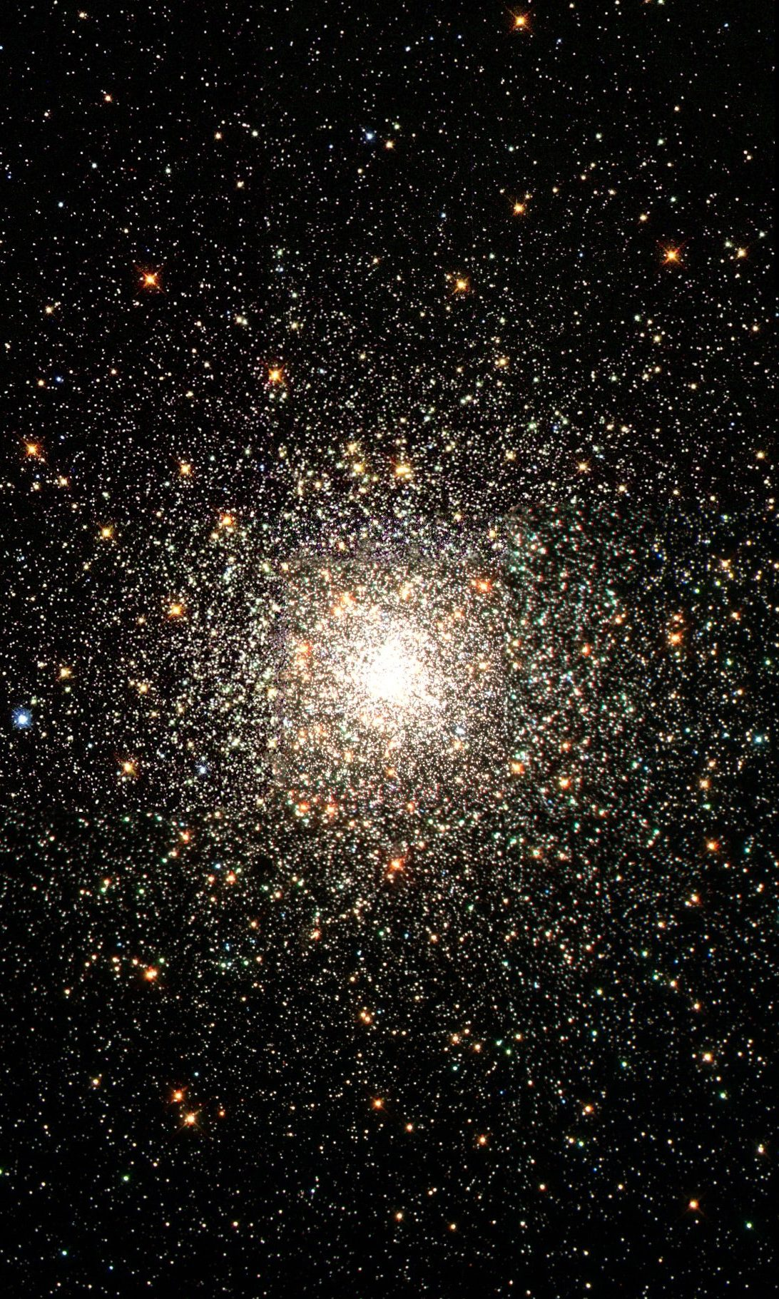 stars clustering together into one bright spot of light