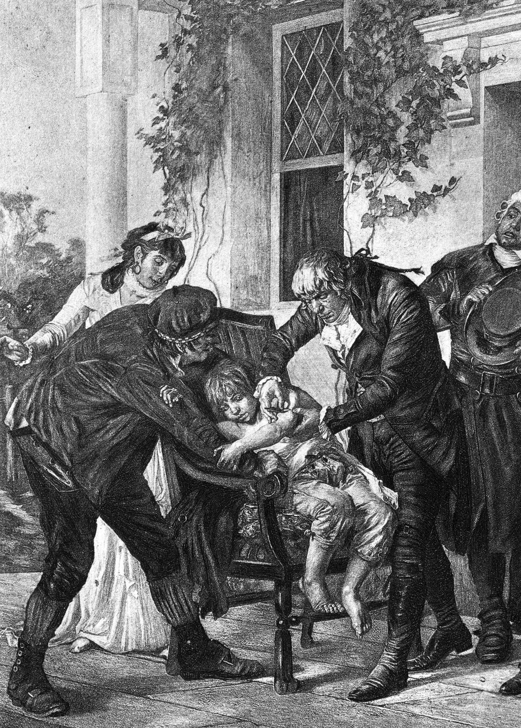 Edward Jenner administers first vaccine