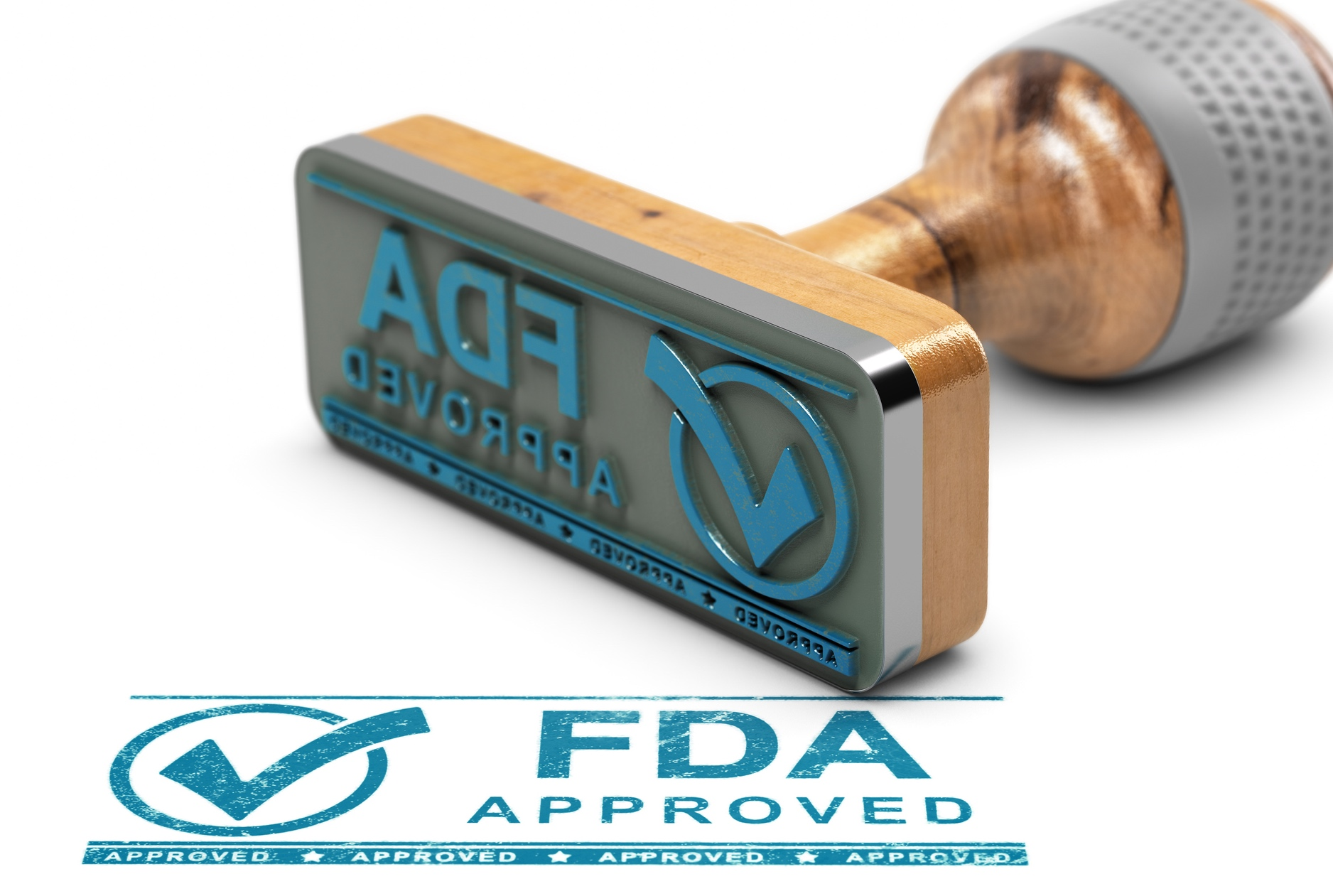 FDA approval stamp stock photo