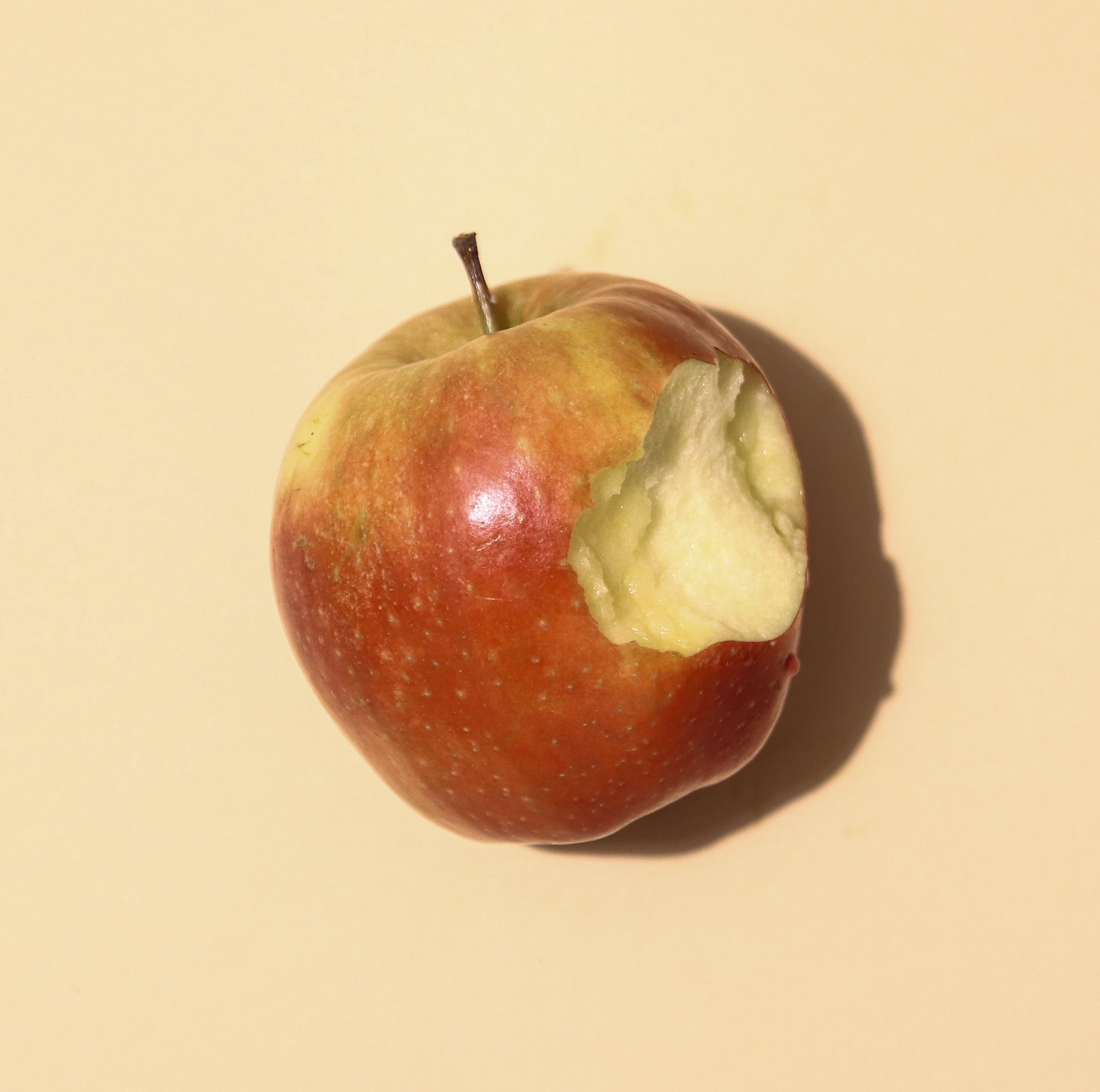 apple with a bite taken out of it