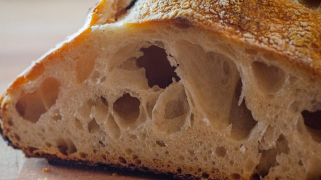 cut bread with holes