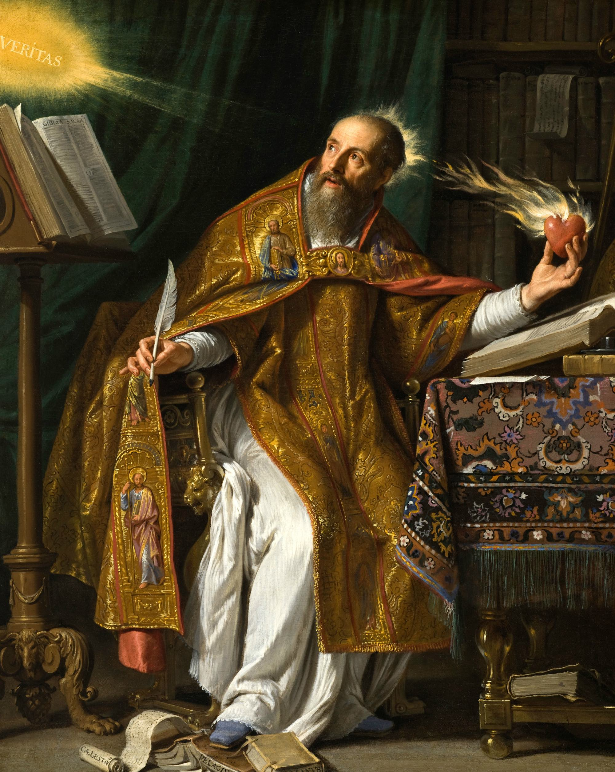 Augustine portrait by Philippe de Champaigne from the Los Angeles County Museum of Art