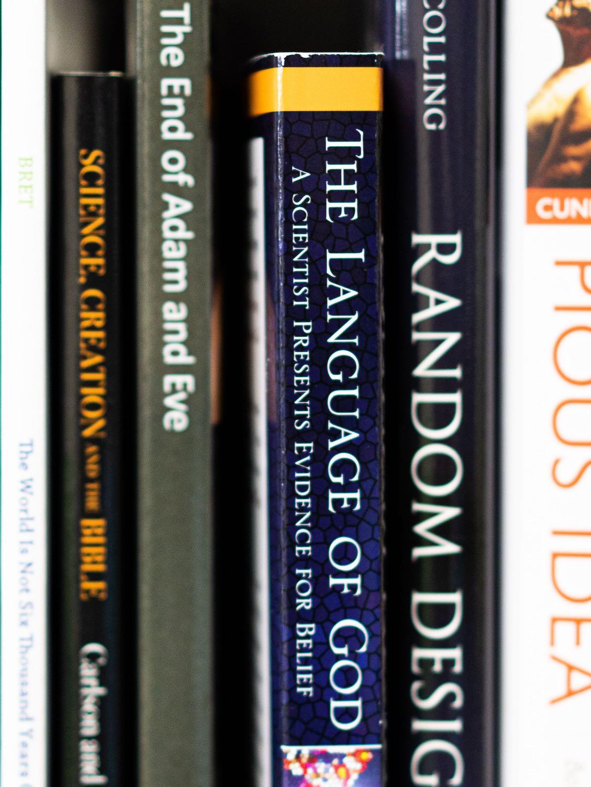 Language of God on a shelf