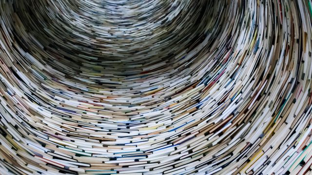 abstract books in circle
