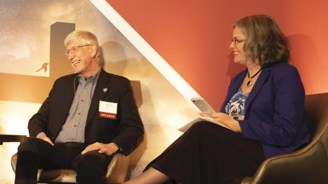 Deb Haarsma with Francis Collins