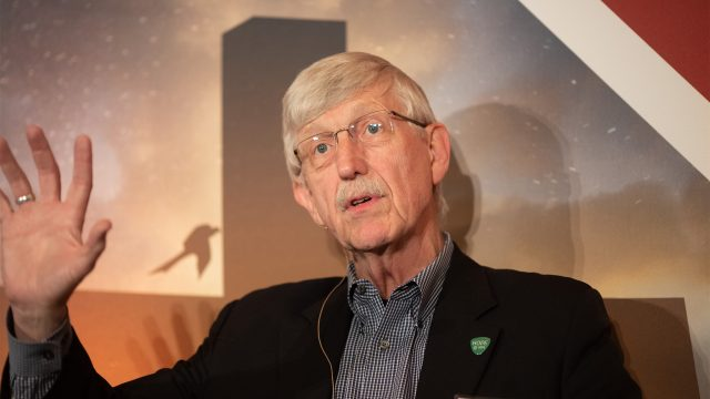 Francis Collins speaking at BioLogos Conference in 2019