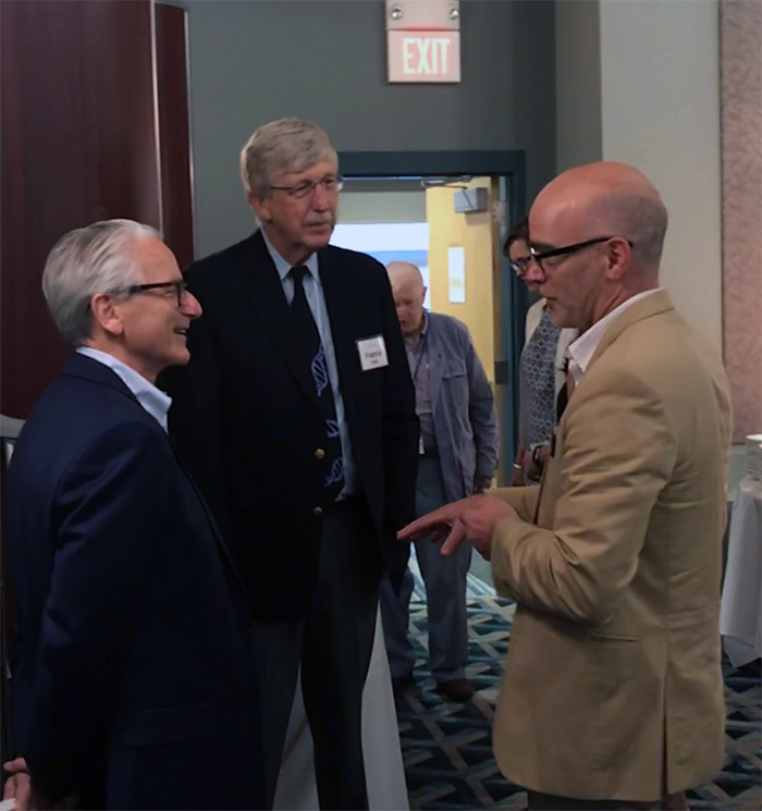 Jim Stump with Francis Collins and Jeff Schloss
