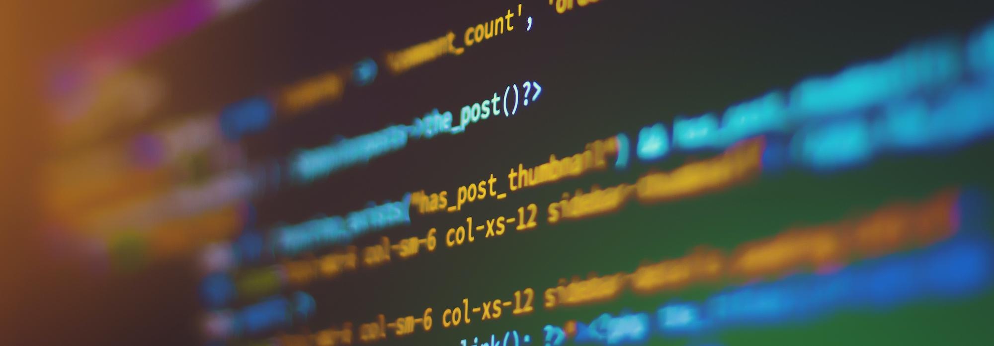 html code on a screen