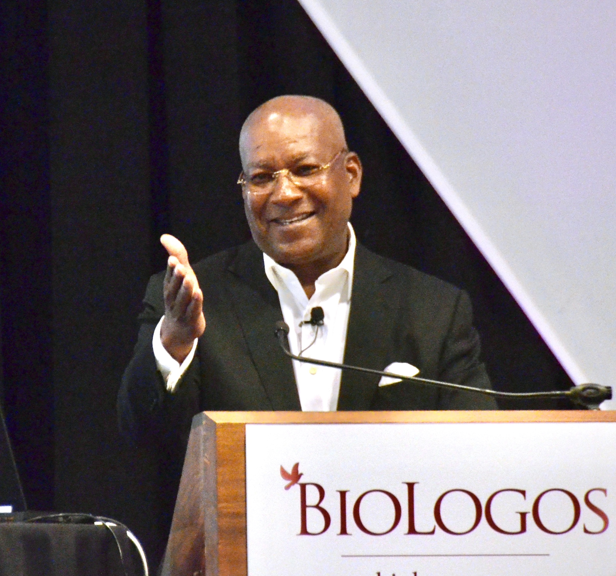 Harvey Clemons at a BioLogos Conference