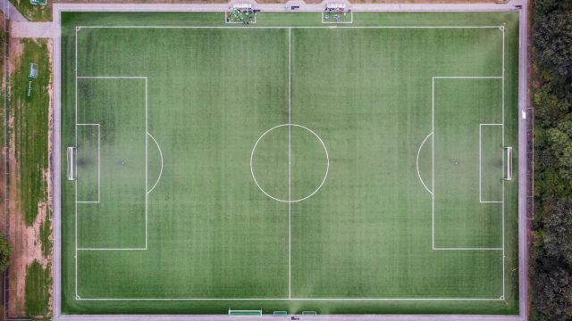 soccer field from above