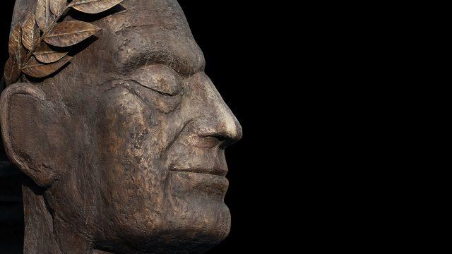 stone head statue
