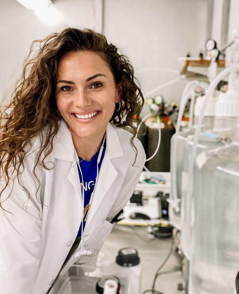 Sarah Wolf in her lab