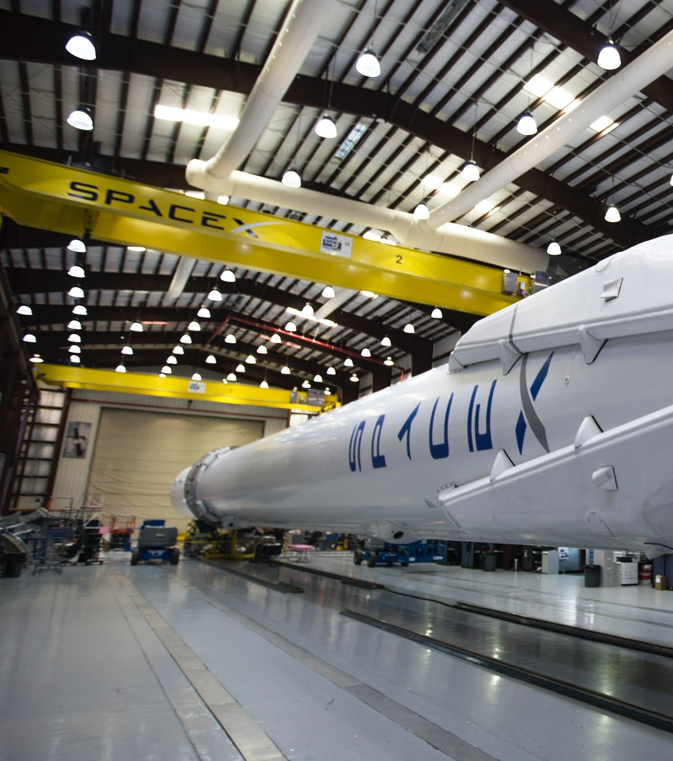spacex rocket in the garage