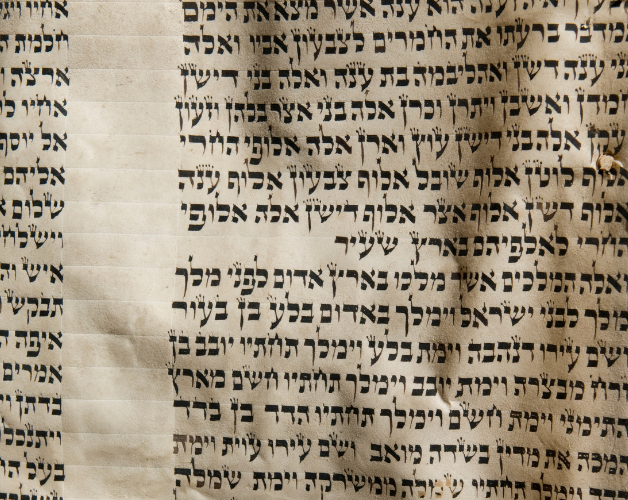Part of Hebrew Bible Scroll