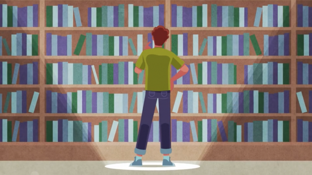 standing in front of book shelf