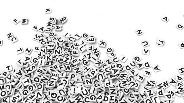 scattered letter tiles